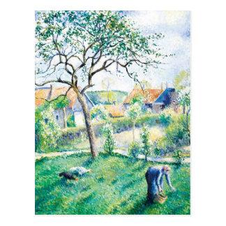 Paisaje del trabajo de arte de Pissarro Postales