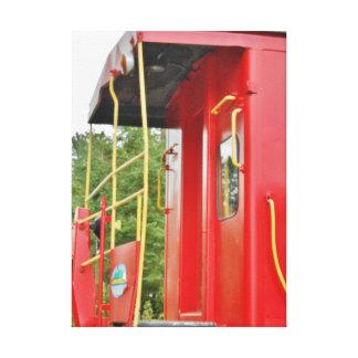 Paisaje del tren de Adirondack del Caboose Impresiones De Lienzo