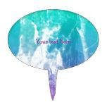 Paisaje del verano del © P Wherrell en azul y rosa Figura Para Tarta