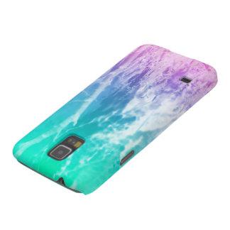 Paisaje del verano del © P Wherrell en azul y rosa Carcasas Para Galaxy S5