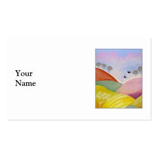 Paisaje del verano tarjetas de visita