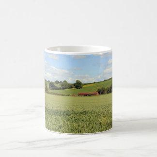 paisaje del verano tazas de café