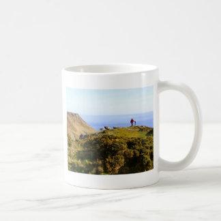 Paisaje Devon del mar de Salcombe Taza