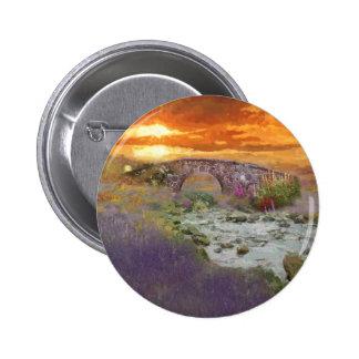 Paisaje Digital del campo de la puesta del sol de Pin Redondo 5 Cm