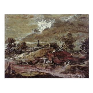 Paisaje: Efecto de la tormenta, siglo XVIII Tarjetas Postales