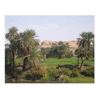 Paisaje egipcio tarjeta postal