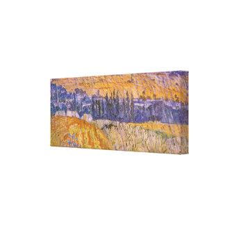 Paisaje en Auvers en la lluvia, Vincent van Gogh Impresiones En Lona Estiradas