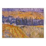 Paisaje en Auvers en la lluvia, Vincent van Gogh Felicitacion