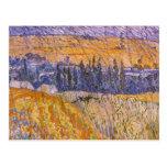 Paisaje en Auvers en la lluvia, Vincent van Gogh Postal