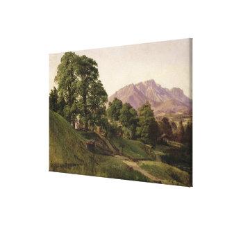 Paisaje en Baviera superior, 1836 Impresión En Lienzo