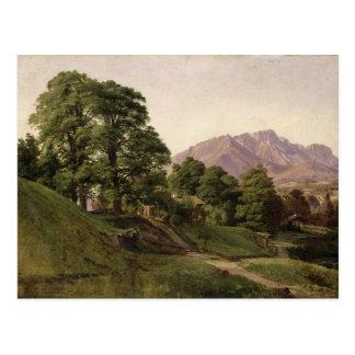Paisaje en Baviera superior, 1836 Postal