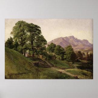 Paisaje en Baviera superior, 1836 Póster