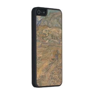 Paisaje en el Santo-Rémy; Vincent van Gogh Funda De Arce Carved® Para iPhone 5