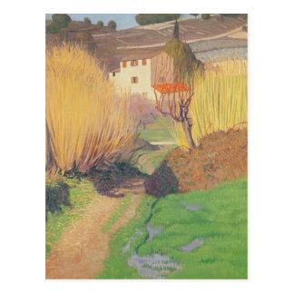 Paisaje en Lagnes, 1921 Postal