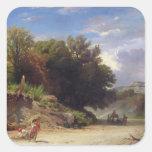 Paisaje en las cercanías de Roma, 1853 Calcomanías Cuadradases