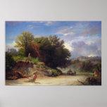 Paisaje en las cercanías de Roma, 1853 Poster