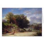 Paisaje en las cercanías de Roma, 1853 Tarjetón