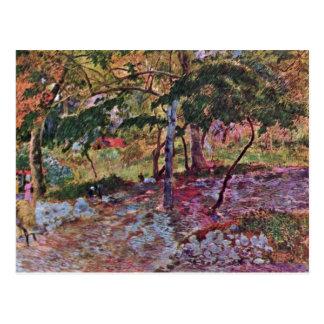 Paisaje en Martinica de Gauguin Paul Postal