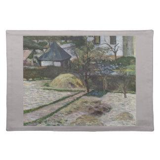 Paisaje en Osny - Paul Gauguin (1881) Mantel Individual
