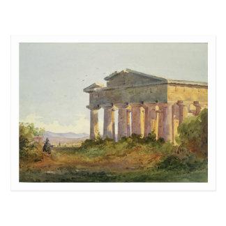 Paisaje en Paestum (w/c en el papel) Postales