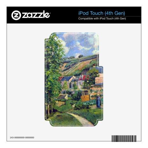 Paisaje en Pontiose de Camille Pissarro Calcomanía Para iPod Touch 4G