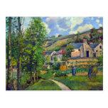 Paisaje en Pontoise de Camille Pissarro Postal