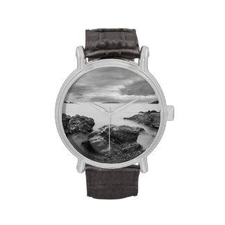 Paisaje en Shetland del oeste Reloj De Mano