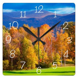 Paisaje en Vermont Reloj Cuadrado