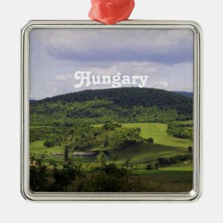 Paisaje enorme de Hungría Adorno Navideño Cuadrado De Metal