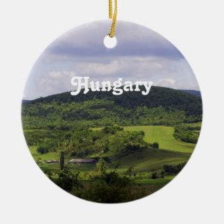 Paisaje enorme de Hungría Adorno Navideño Redondo De Cerámica
