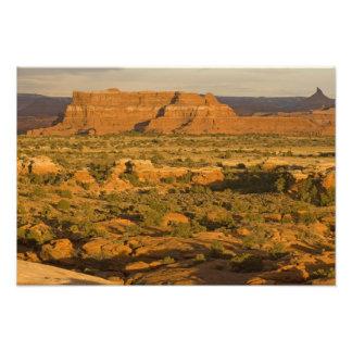 Paisaje escénico del desierto del invierno en la m impresión fotográfica