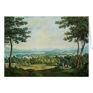 Paisaje escocés - tarjeta de la pintura de la acua