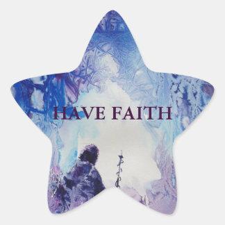 Paisaje espiritual ligero especial del © P Colcomanias Forma De Estrellaes Personalizadas