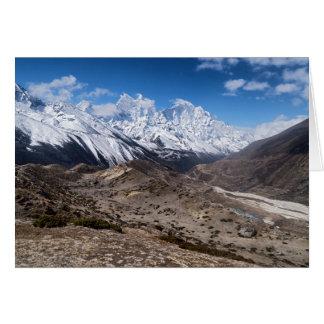 Paisaje estéril y montañas Nevado (Himalaya) Tarjeta De Felicitación