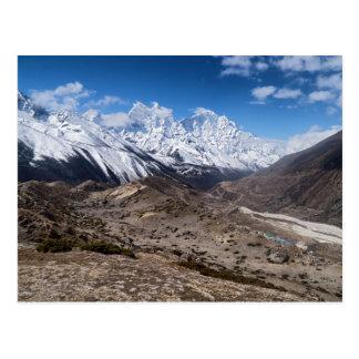 Paisaje estéril y montañas Nevado (Himalaya) Tarjetas Postales
