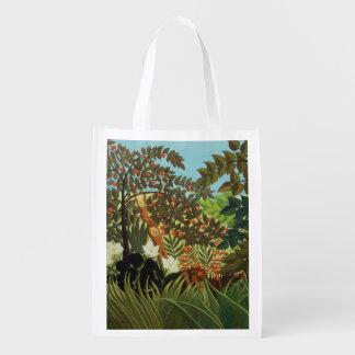 Paisaje exótico bolsas de la compra