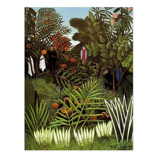 Paisaje exótico de Enrique Rousseau- Postal