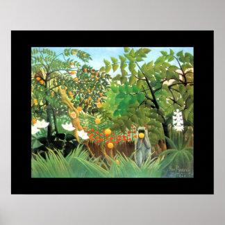 Paisaje exótico de Laval Mayenne del arte del vint Impresiones