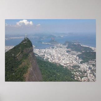 Paisaje exquisito de Río de Janeiro el Brasil Póster