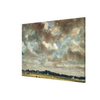 Paisaje extenso con las nubes grises, c.1821 (acei impresión en lienzo