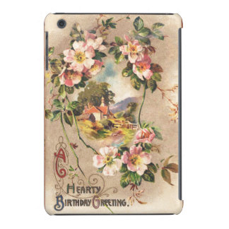 Paisaje floral de los saludos calurosos del funda de iPad mini