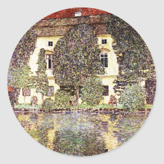 Paisaje fresco - Gustavo Klimt Pegatina Redonda