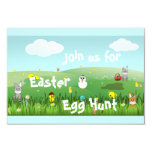 paisaje gráfico de Pascua Invitacion Personal