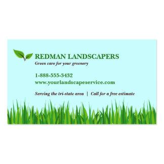 Paisaje herboso tarjetas de visita