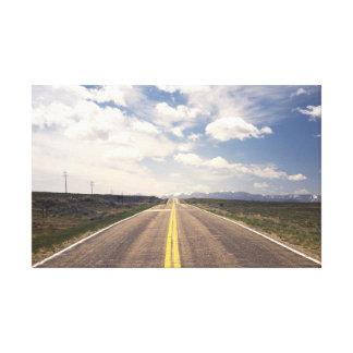 Paisaje hermoso de la carretera impresión en lienzo