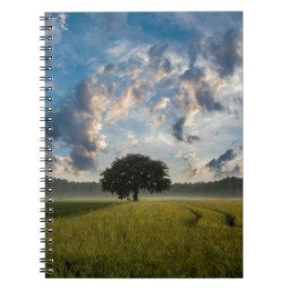 Paisaje hermoso de la naturaleza libros de apuntes