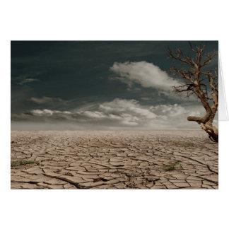 Paisaje hermoso del desierto de la sequía tarjeta de felicitación