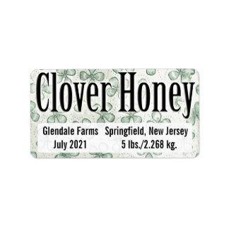 Paisaje horizontal de la miel del trébol etiquetas de dirección