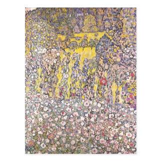 Paisaje hortícola, cumbre de Gustavo Klimt Tarjeta Postal