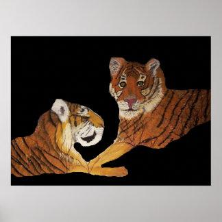 Paisaje Ifran de los tigres Póster